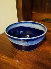 Large blue dog bowl
