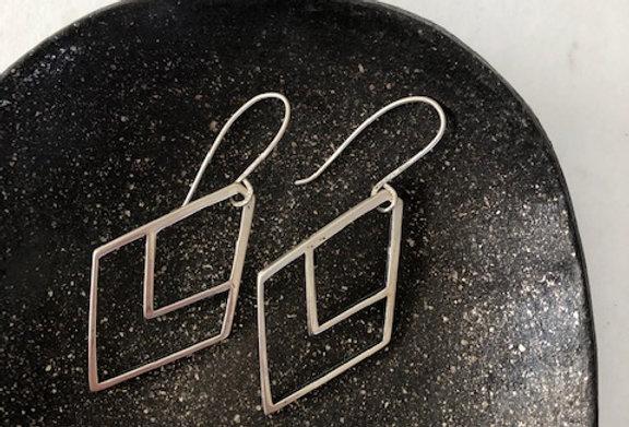 Chevron Earrings-Sterling Silver