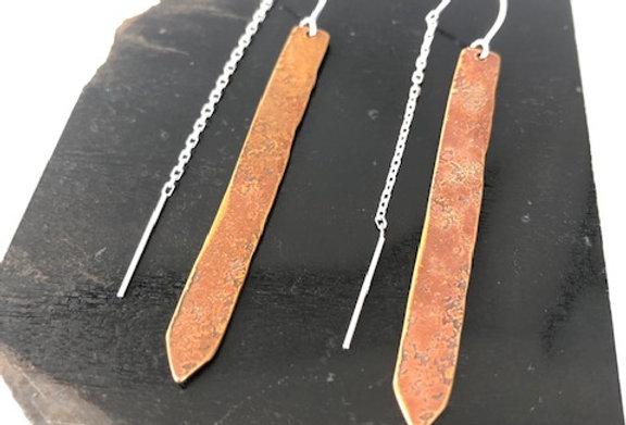Arrow Earrings-Copper Bronze