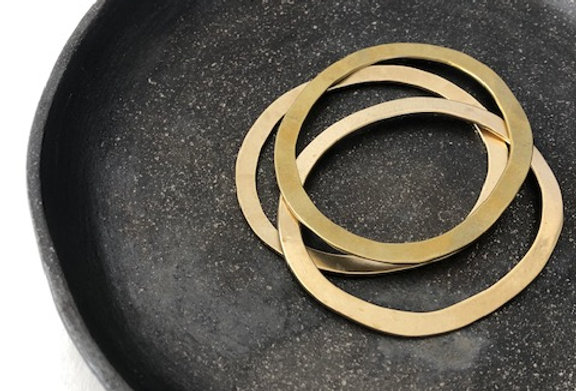 Oval Bangles-Yellow Bronze