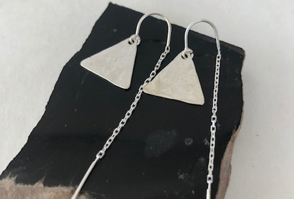 Triangle Earrings- Sterling Silver