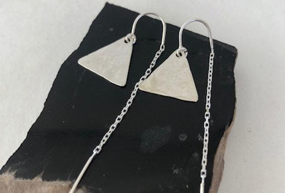 Triangle Earrings- Sterling Silver