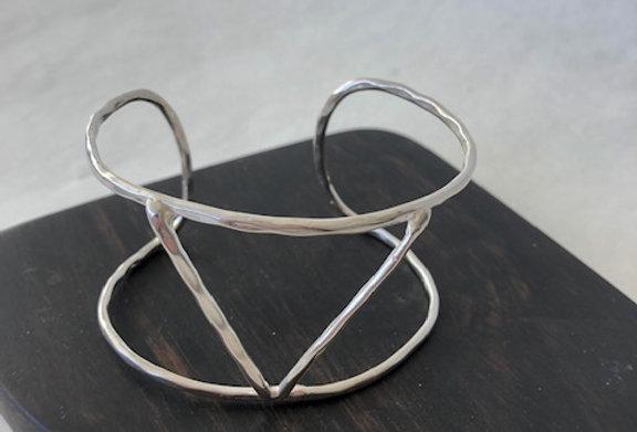 Silver Triangle Cuff