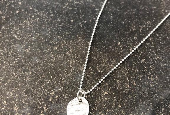 Cornpuff Necklace on Silver Dot Chain