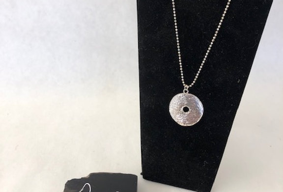 "Primitive Necklace- Sterling Silver 18"""