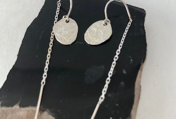 Cornpuff Earrings-Sterling Silver