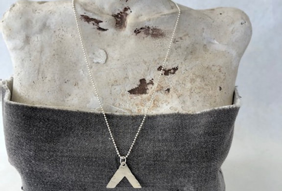Mountain Necklace on Sterling Dot Chain
