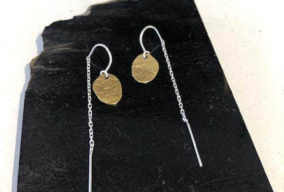 Cornpuff Earrings -Yellow Bronze