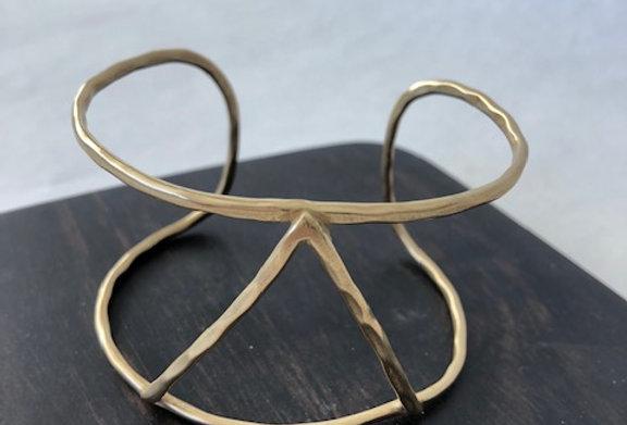 Triangle Cuff -Yellow Bronze