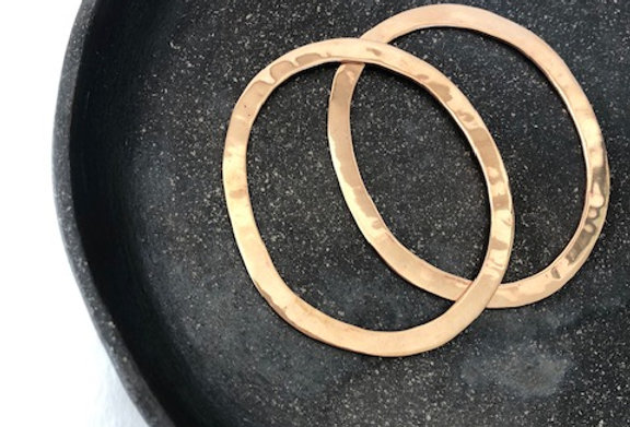 Oval Bangles-Copper Bronze