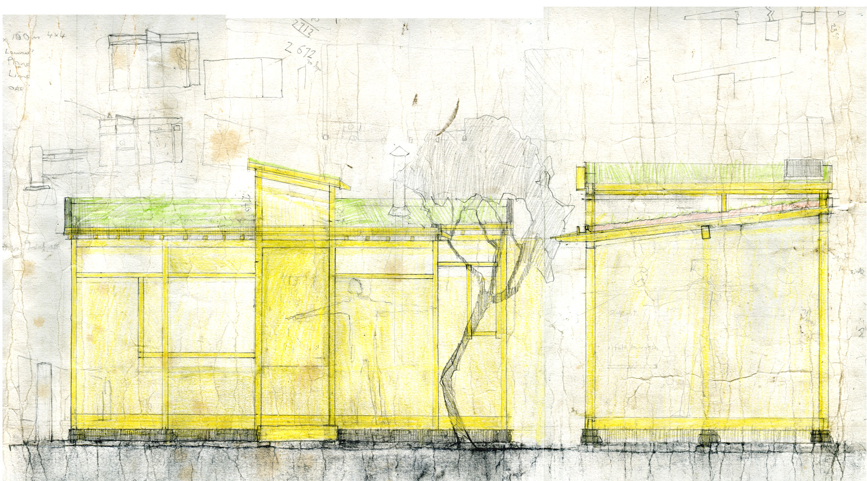 drawing of studio pc