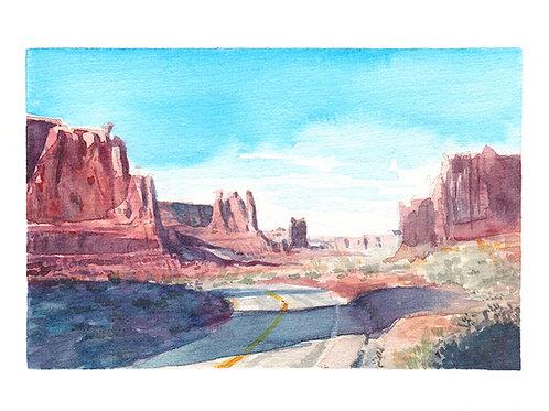 Road through Moab