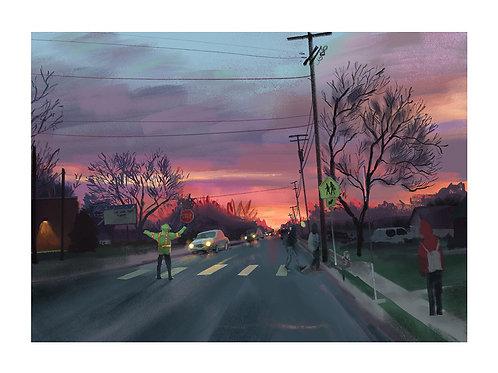 Sunrise bus stop