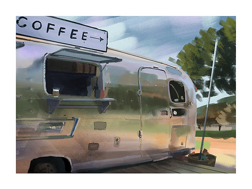 Coffee trailer wide