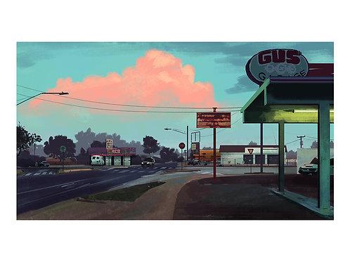 Pink cloud Gus