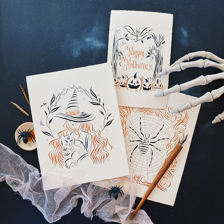 ONLINE LIVE CLASS - Spooky Drawings - Sunday 24th - (English-instructed)