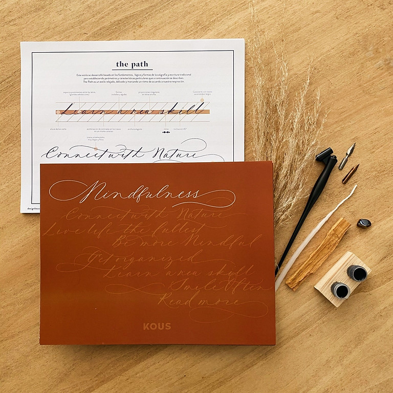 LIVE ONLINE CLASS - MINDFULNESS  CALLIGRAPHY - Sep 18th & 19th (English-instructed)