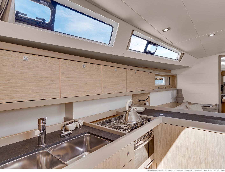 Below deck: Kitchen Area