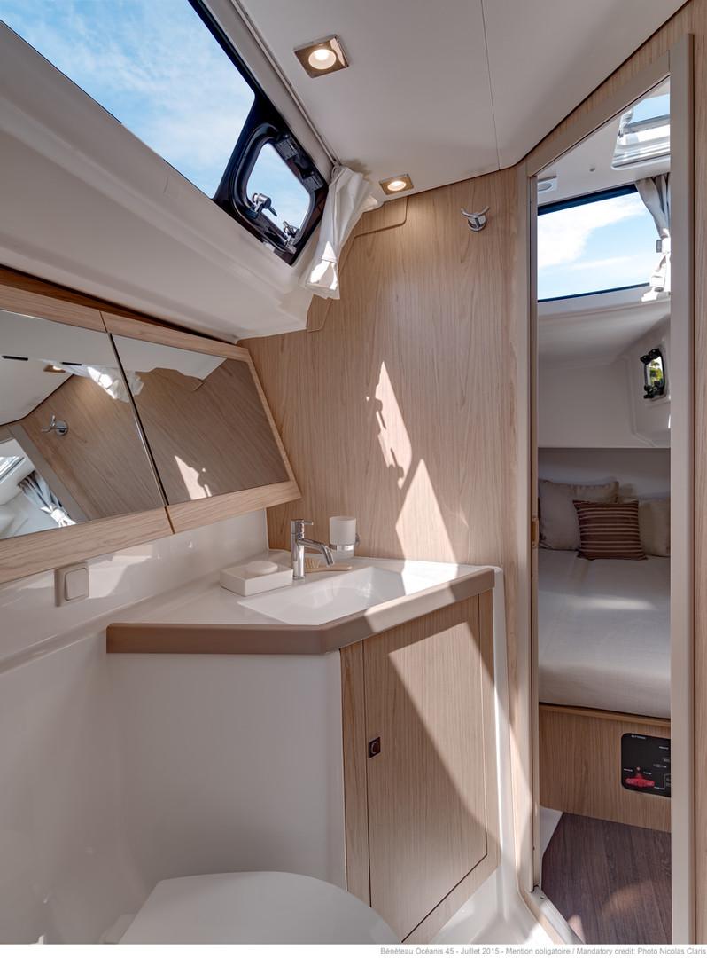 below deck: main toilet
