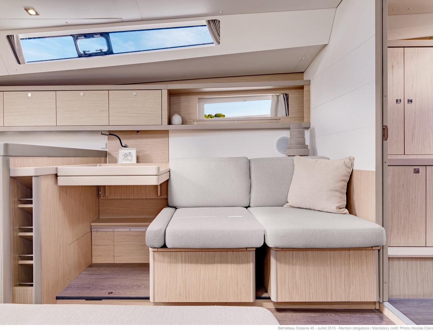 below deck: couches