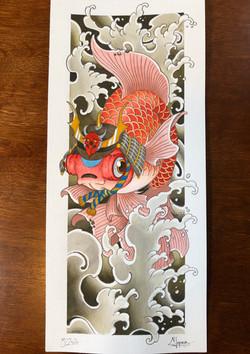 Samurai telescope goldfish