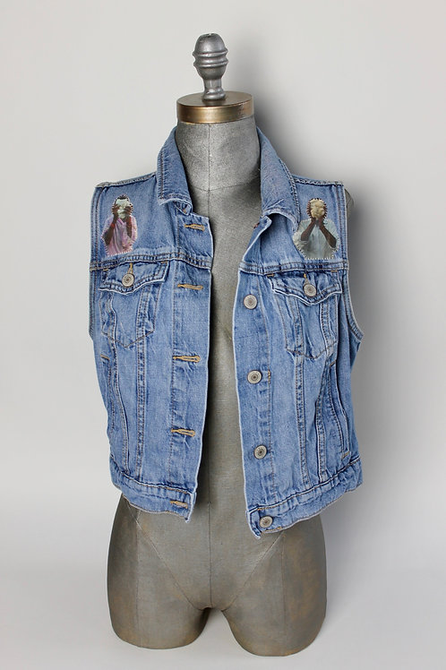 Faceless Farmer denim vest - light wash