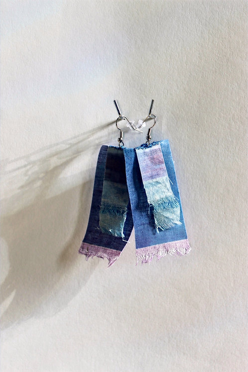Blue scrappy earrings