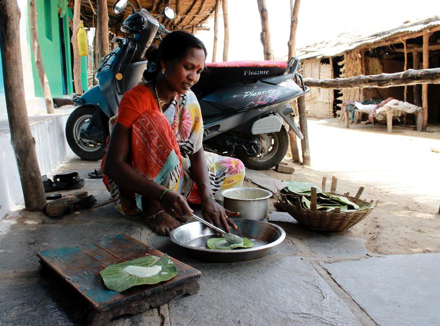Sangita makes papad