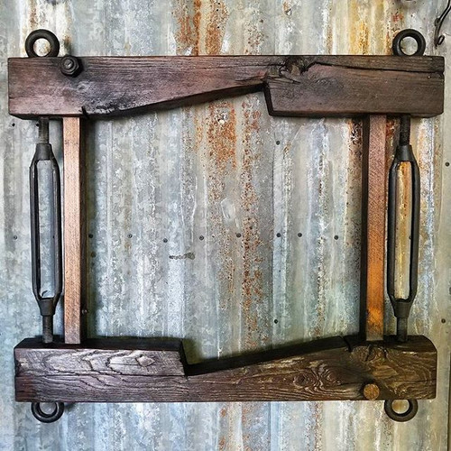 Reclaimed Wood Frame Turnbuckles