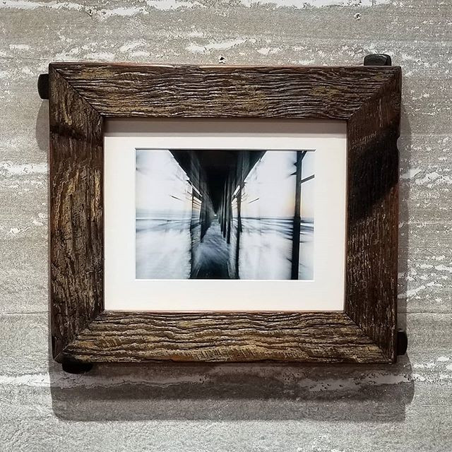 Dark brown reclaimed wood frame