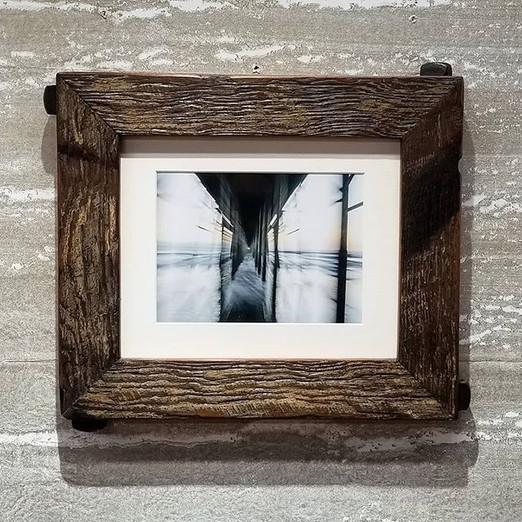 Dark brown reclaimed wood frame