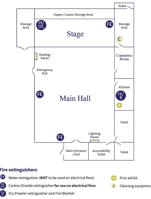Uley Village Hall floor plan