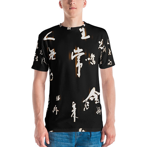 Vilasi Japanese Printed Black Men's T-shirt