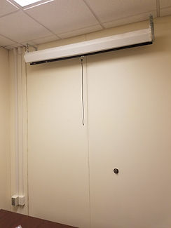 Projector and projector screen install in ceiling
