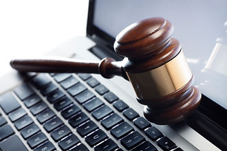 Picture of keyboard and gavel