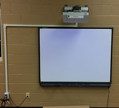 Picture of Smartboard and projector