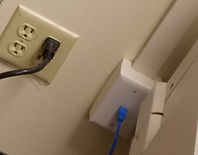 Network wall drop install