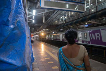 A moment of respite before the day's unrelenting routine begins. Most Mumbaikars use the locals to commute between the extreme ends of this vast city. This means that many of them need to catch trains at as early as 5:30 am to reach their destinations on time.