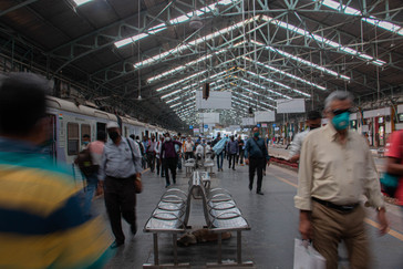 Churchgate station at 4:15 PM, before the infamous rush hour begins. Hundreds board and disembark the same local in a span of five minutes at this station.
