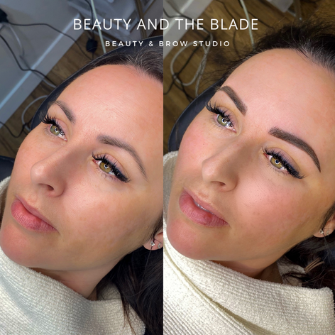 Hybrid brow cover up