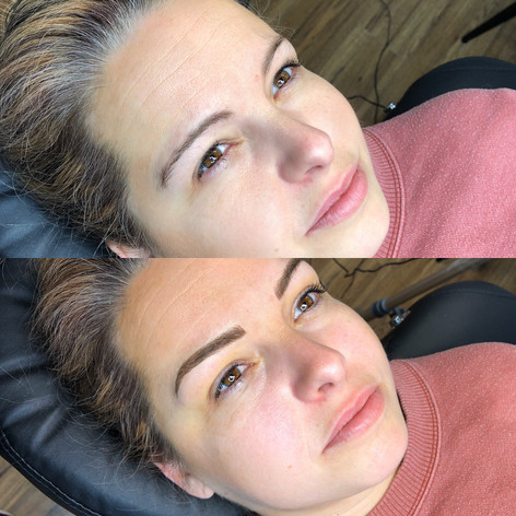 Microblading with shading (combo brows)