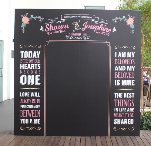 Create A Giant Wedding Vow Backdrop Personalized For You To Make It Remember