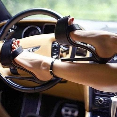 Nina Covaci Black Sandals