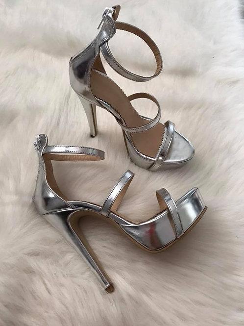 Nina Covaci Silver Sandals
