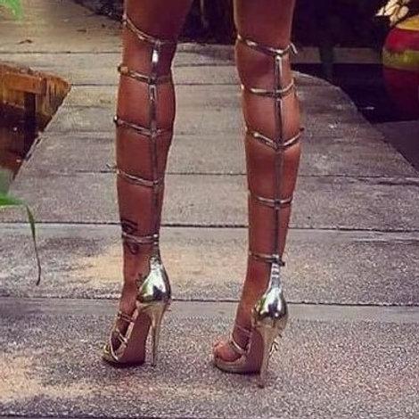 Nina Covaci Gold Straps Sandals