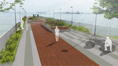 PA Camp Outfall Deck Artist Impression