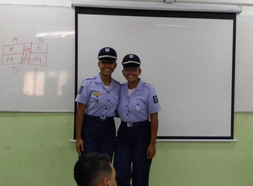 Ex-alunas do médio militar que foram aprovadas para a EEAR