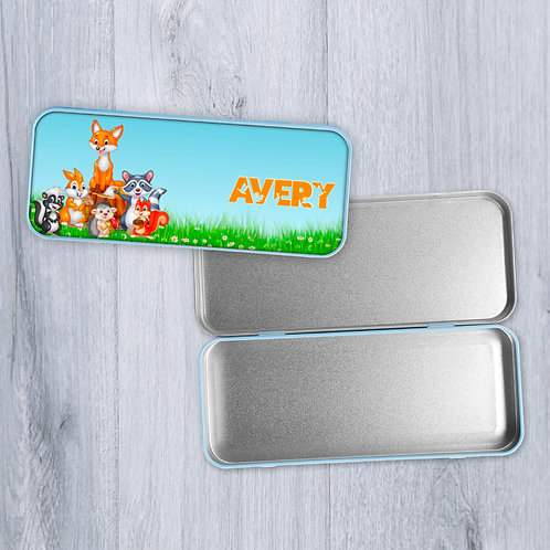 Forest Friends Personalised Pencil Case