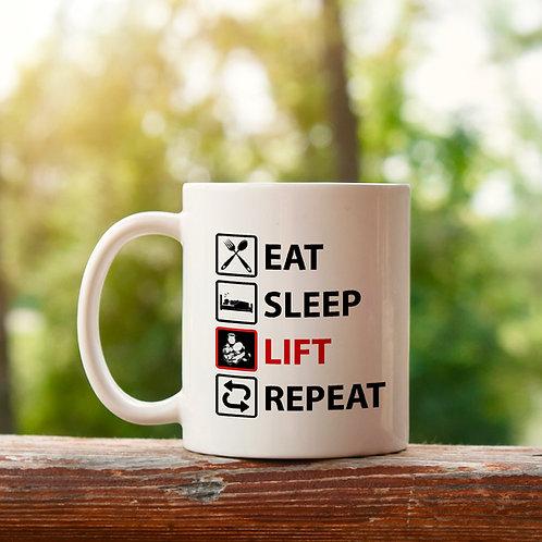 Eat, sleep, lift, repeat