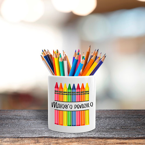 Crayon Madness Stationery Pot